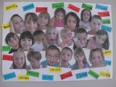 Hacemos un mural de nuestras emociones Kindergarten Art, Preschool, Image Emotion, Kids Class, Les Sentiments, Feelings And Emotions, Teaching Spanish, Facial Expressions, French Language