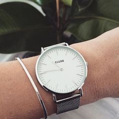 CLUSE La Bohème Mesh Silver/White Our style inspiration for our Stylish Watches, Fashion Watches, Daniel Wellington, Minimalist Fashion, Silver Color, Women's Accessories, Bracelet Watch, To Go, Pandora