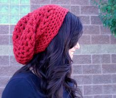 CROCHET PATTERN PDF Chunky Mesh Slouchy Hat - You CaN sell finished pieces. $4.50, via Etsy.