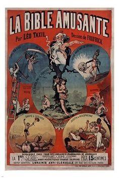LA BIBLE AMUSANTE (the funny bible) french ad poster PRIZED HUMOR 24X36 rare
