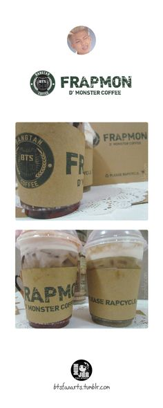 The Bangtan Food Project #6 Frappe + Rap Monster = Frapmon - D' Monster Coffee. Frappe is the best coffee for rapmon, not just that frappe sounds like rap, its also not your ordinary coffee. It's an...
