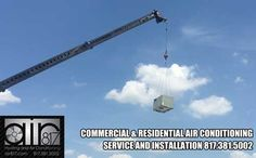 Air conditioning repair and service. Residential or commercial HVAC contractor. www.air817.com Commercial Air Conditioning, Commercial Hvac, Utility Pole, Conditioner