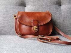 5649efc445 Vintage Coach Prairie Bag 9954 Brown Saddle Bag by FeelsFree Vintage Coach