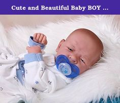 "Cute and Beautiful Baby BOY Sooo Sweet Preemie 14 Inches Life Like Reborn Pacifier Doll + Extras. This is a ALL VINYL, reborn, 14 inch Berenguer Preemie. He has the most radiant, natural skin tone. a new baby ""glow"". (This is achieved by numerous layers of custom mixed Genesis heat set paints, which are permanent.) . This little one has been lightly weighted for a more realist feel and has a baby fresh scent. Baby wears a ""preemie"" size in baby clothes.(outfit may vary as shown in…"