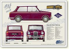 Riley Elf Mk2 1963-66 classic car portrait print