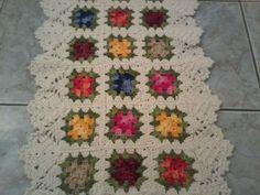 Fotos de  Tapete crochê várias flores