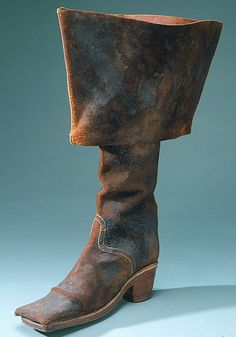 Boots for war that belonged to the Swedish king Karl X Gustav 1622-1660.