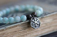 SALE SALE Amazonite Stretch Bracelet // Sterling by DezineStudio, $26.40