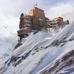 The Long Road - an Icewind Dale fan art, Andrii Shafetov on ArtStation at… Dark Fantasy, Fantasy Concept Art, Fantasy City, Fantasy Castle, Fantasy Map, Fantasy Places, Medieval Fantasy, Sci Fi Fantasy, Fantasy Artwork
