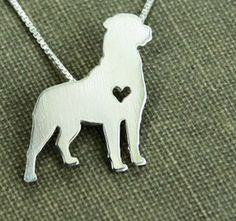 A Rottweiler Has My Heart Necklace