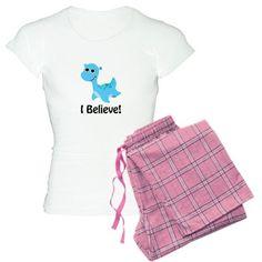 I Believe! Cute Nessie Pajamas on CafePress.com