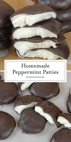 Cool and creamy, this Homemade Peppermint Pattie recipe is so easy to make! It o… Cool and creamy, this Homemade Peppermint Pattie recipe is so easy to make! It only use 4 ingredients and can be customized to fit any holiday or event! Christmas Desserts, Christmas Baking, Easy Desserts, Delicious Desserts, Yummy Food, Christmas Candy, Dessert Recipes, Christmas Cookies, Christmas Boxes