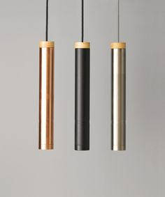 LEDlux Piper Large Dimmable Pendant in Brushed Chrome/Ash