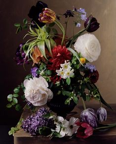 """FLORAL STILL LIFES THAT RECALL OLD MASTERS PAINTINGS by New Orleans-born photographer Sharon Core """"Sharon Core is an American artist and photographer who work uses art-historical conventions of..."""