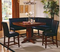 dining nook and chairs