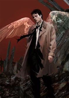 Fan Art of Castiel for fans of Supernatural 30728328 Supernatural Fans, Supernatural Drawings, Supernatural Wallpaper, My Demons, Angels And Demons, Satan, Fanart, Misha Collins, Superwholock