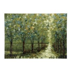 Spring Walkway Stretched Canvas - buying this, Asheville Artist!!