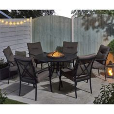 Catalonia Firepit And Ice Bucket Dining Set