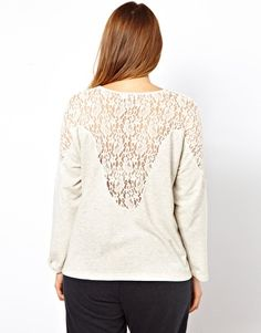 ASOS CURVE Sweatshirt With Lace