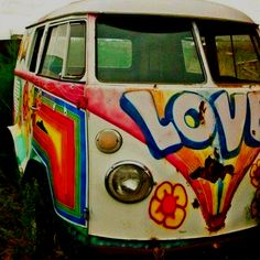 One day if I get a hippie van then I'm defiantly going to paint it.