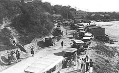 Also from the Gold Coast Archives - Motor vehicles parked around Kirra Point Description: The two buildings to the right are ladies and gents toilets. This has possibly been taken at the time of the opening of the South Coast Road. Gold Coast Australia, Mermaid Drawings, Park Around, Holiday Destinations, Historical Photos, Beautiful Beaches, Old Photos, Surfing, Two By Two