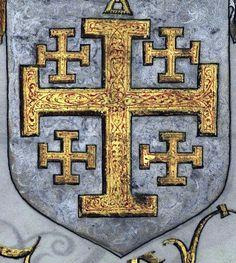 Livro do Armeiro-Mor (1509)Armas do Rei de Jerusalém.