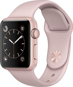 Apple Watch Series 1 Smartwatch Rose Gold Aluminum Case, Pink Sand Sport Band (Newest Model) (Certified Refurbished): Cell Phones & Accessories Apple Watch Serie 1, Buy Apple Watch, Rose Gold Apple Watch, Pink Watch, Cute Apple Watch Bands, Apple Smartwatch, Smartwatch Ios, Telefon Apple, Bracelet Sport
