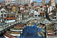 Bernard Buffet - Marseille, the Auffes valley, 1993 Illustrator, Francis Picabia, Spanish Painters, Museum, French Artists, Art Plastique, Paris, Oeuvre D'art, My Drawings