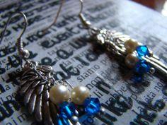 Supernatural Castiel Inspired Earrings di FollowTheGrace su Etsy