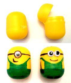 Lustige Minions aus Kinder Ü-Eiern basteln!