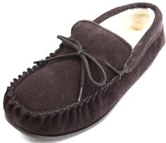 Snugrugs Men's Suede Sheepskin Moccasin Slippers With Rubber Sole - http://shoes.goshopinterest.com/mens/slippers-mens/snugrugs-mens-suede-sheepskin-moccasin-slippers-with-rubber-sole/