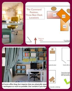 Feng Shui Tips for Your Home Office Office Wall Art, Office Walls, Office Decor, Feng Shui Home Office, Feng Shui Tips, Best Desk, Decorating Tips, Curtains, Blinds