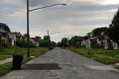 Decrepit Neighborhood Detroit