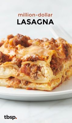 """This ultra-decadent dinner finally answers the question, """"Can a lasagna have swagger?"""" (The answer is yes.) The rich layers of cheese, beef and creamy tomato sauce taste like a million bucks."""