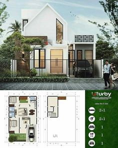 Image may contain: tree and outdoor Modern Exterior House Designs, Dream House Exterior, Modern Architecture House, Concept Architecture, Dream House Plans, Modern House Design, Exterior Design, Japan Modern House, Home Modern