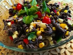 A Food Lover's Delight offers this Tex Mex Pasta Salad recipe as well as advice and discussion on all topics of delight to a food lover. Vegetarian Pasta Salad, Tuna Salad Pasta, Pizza Pasta Salads, Pasta Salad Recipes, Black Bean Pasta, Black Bean Noodles, Pasta Salad Ingredients, Dairy Free, Gluten Free