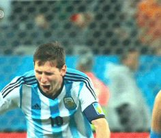 Remember when Leo didn't know if he should laugh or cry when we won the semifinals? He just did both instead.