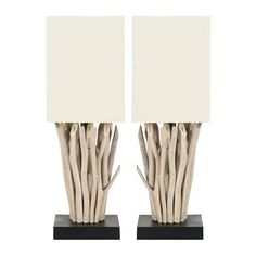 Safavieh 2-pc. White Washed Branches Table Lamp Set