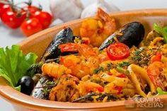 Receita de Paella deliciosa em receitas de crustaceos, veja essa e outras receitas aqui!