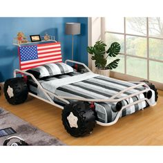 Ricky Racer Twin Metal Race Car Bed - White - IDF-7765  sc 1 st  Pinterest & Pacific Play Tents Rad Racer Bed Tent - 77 Inch x 54 Inch x 42 ...