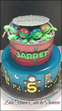 Dessert table tmnt cake pops mutant ooze jello oreo sewer lids