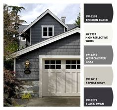 Exterior Paint Colors - You want a fresh new look for exterior of your home? Get inspired for your next exterior painting project with our color gallery. House Paint Exterior, Exterior Siding, Exterior Remodel, Exterior Design, Grey Exterior, Hardie Board Siding, Gray Siding, Exterior House Colors Grey, House Siding Colors