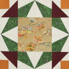 Quilt block from Quiltmaker's 100 Blocks Vol. 11. Join us for our blog tour and giveaway!