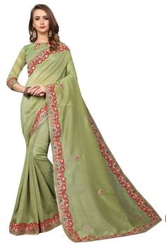 #green #salwar #kameez dupatta mostly liked by #fair #girls or #womens, #Pakistani #loves to wear green suits, #Nikvik.com is the best seller of green #suits and pakistani #dresses Indian Designer Sarees, Latest Designer Sarees, Party Wear Kurtis, Party Wear Sarees, Designer Sarees Collection, Saree Collection, Cotton Saree, Cotton Silk, Work Sarees