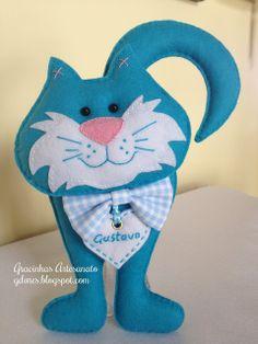 Gracinhas Artesanato - cat felt toy idea stuffed sewing craft