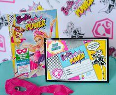 barbie princess power invitation