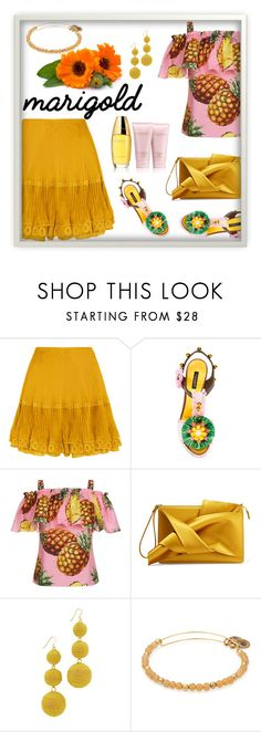 """""""Untitled #720"""" by m-jelic on Polyvore featuring Chloé, Dolce&Gabbana, N°21, Kenneth Jay Lane and Estée Lauder"""