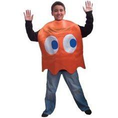 Cute Kids Pac-Man Clyde Deluxe Child Costume