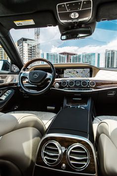 The avant-garde design idiom is continued in the interior of the Mercedes-Benz S-Class. Photo by Ben Brinker (www.benbrinker.com) for #MBphotopass via @mercedesbenzusa