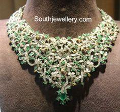 emeralds and diamond choker